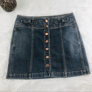 GAP Skirts - EUC Gap Size 2 Full Snap Jean Mini Skirt Pockets